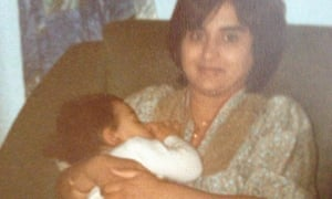Nikesh Shukla with his mother.