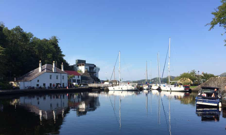 Crinan village with canal