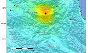 A magnitude 5.9 earthquake has hit near Hastrud in north-west Iran.