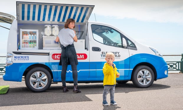 How cool is that? Ice-cream without the carbon monoxide. The Nissan e-NV200.