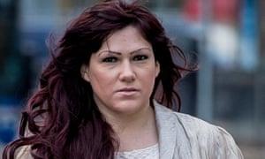 Joanne Mjadzelics, the ex-girlfriend of paedophile Ian Watkins.