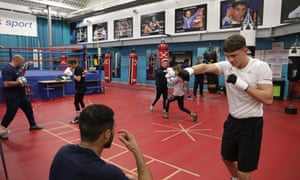 Members of the GB Amateur boxing squad train at the Intitute of Sport under the tutelage of the performance director Rob McCracken.