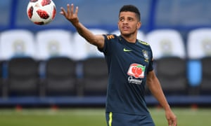 Taison takes part in a training session in Sochi this month
