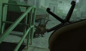 Fending off a headcrab ... Half-Life Alyx.