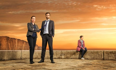 So very human … Olivia Colman, David Tennant and Julie Hesmondhalgh in Broadchurch.