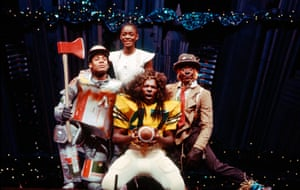 The Wiz, 1984 Adapted from The Wonderful Wizard of Oz by L Frank Baum. Peter James directed (from left to right) Okon Jones (Tinman), Celena Duncan (Dorothy), Clem Curtis (Lion) and Clarke Peters (Scarecrow). This was the London debut of the musical following success in the US