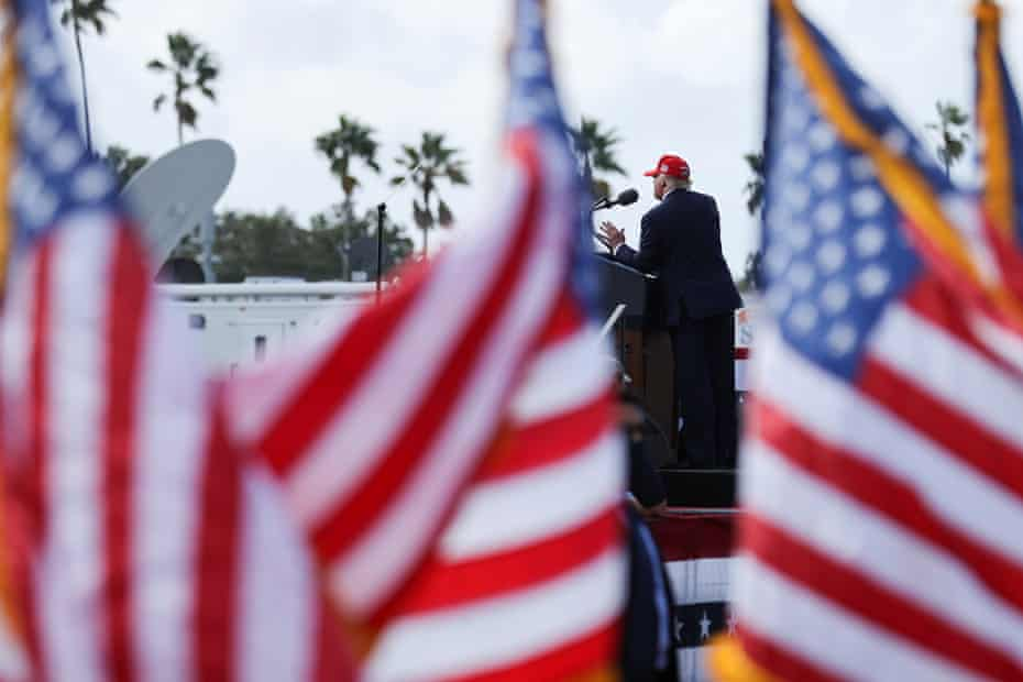Trump at a campaign rally in Tampa, Florida, on Thursday.