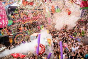 The Elrow party attended by Sirin Kale in Barcelona