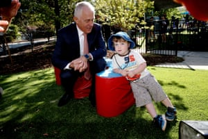 Malcolm Turnbull visits the Good Start early learning centre in Isaacs, Canberra.