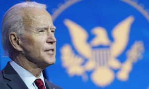 President-elect Joe Biden speaks during an event to announce his health care team