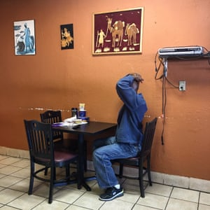 The African Village Restaurant in Irving, Texas, owned by Grace Ndam. This picture shows Grace's son who has learning difficulties - and it was in order to be able to care for him adequately that she first decided to set up this restaurant