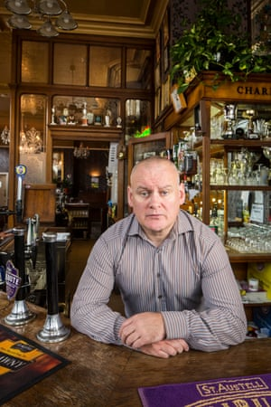 Dave Murphy, the landlord of the Golden Lion in Camden, north London.