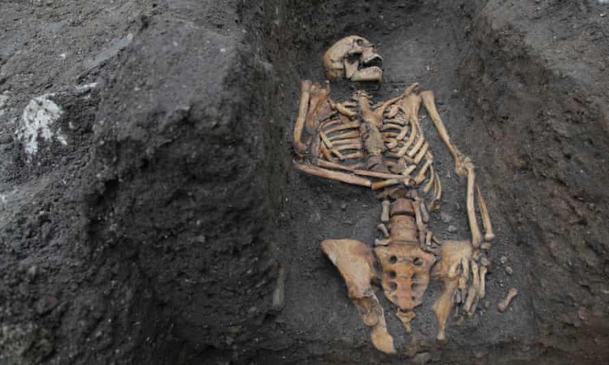 The remains of an individual buried in an Augustinian friary in Cambridge.