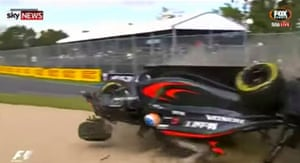 Upon hitting the gravel trap, the car flipped upside down – Alonso's head was just inches from the ground.