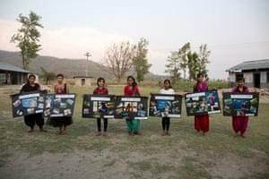 Girls who took part in the WaterAid project – Sushma, Bisheshtra, Bandana, Sabina, Rabina, Manisha and Rita – in Sindhuli, Nepal