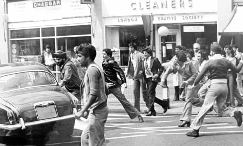12. Disturbances in Southall following murder of Gurdip Singh Chaggar. 1976