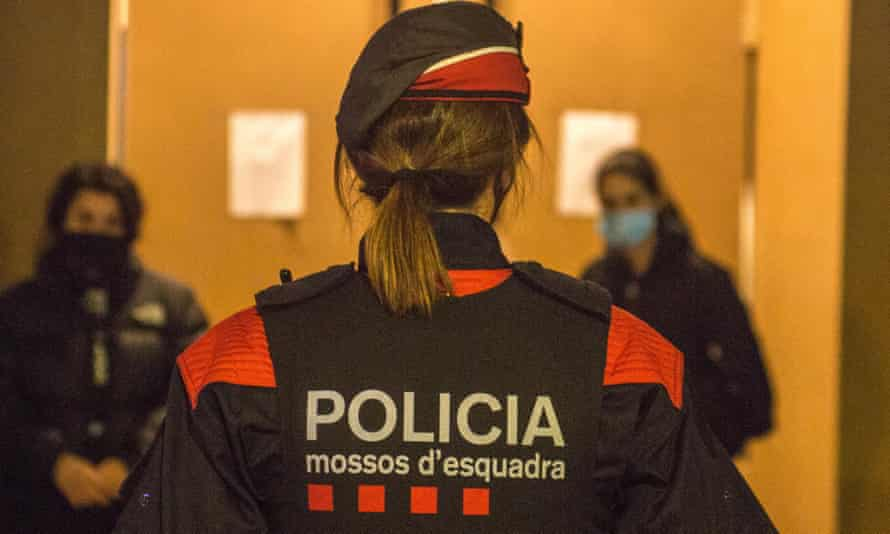 Woman police officer in Barcelona