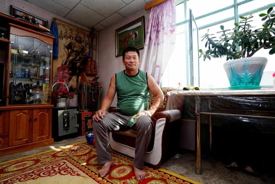 Erdene Bayer at home in Khanbogd