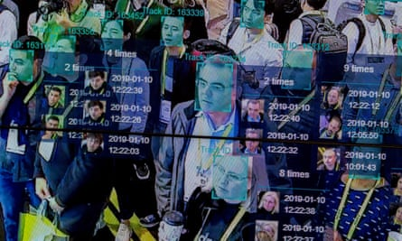 A live demonstration of artificial intelligence and facial recognition at a convention