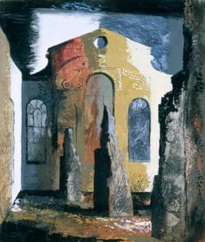 Christ Church, Newgate Street, by John Piper, 1941