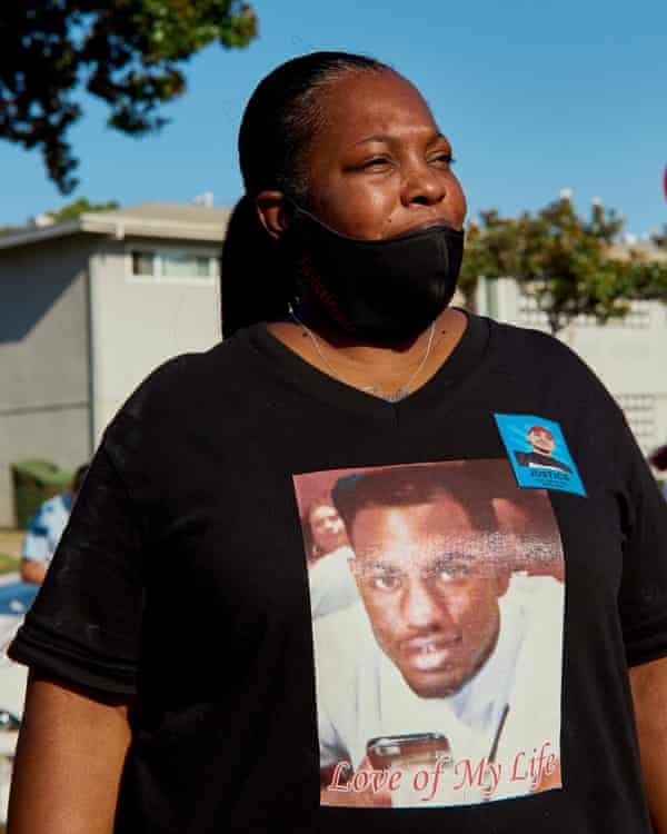 Tommy Twyman, the mother of Ryan Twyman, who was also killed by LASD.