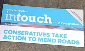 Conservative local election leaflet