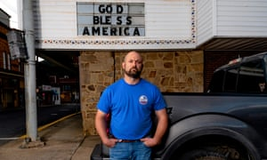 Bo Copley in downtown Williamson. CREDIT: Johnathon Kelso for The Guardian.