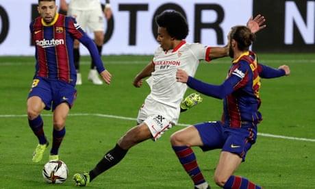 European roundup: Sevilla beat Barça in cup first-leg as Neymar injured for PSG