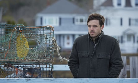 'He unblocks drains, drinks beer, loads scrap into a dumpster and clearly has some sort of dark secret that's keeping the weight of the world firmly on his shoulders' … Casey Affleck as Lee in Manchester-by-the-Sea