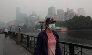People wear breathing masks