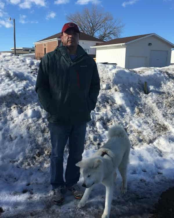 Dave Archambault with his dog Kuma.