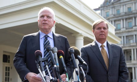 John McCain and Lindsey Graham have called for 20,000 US troops in Iraq and Syria.