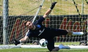 Jack Butland keeps himself busy during an England training session at St George's Park.