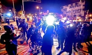 Wednesday night had also seen protests in Wauwatosa.