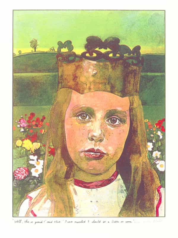 Illustration for Through the Looking Glass and What Alice Found There by Peter Blake, 1970.