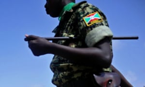 An African Union soldier from Burundi