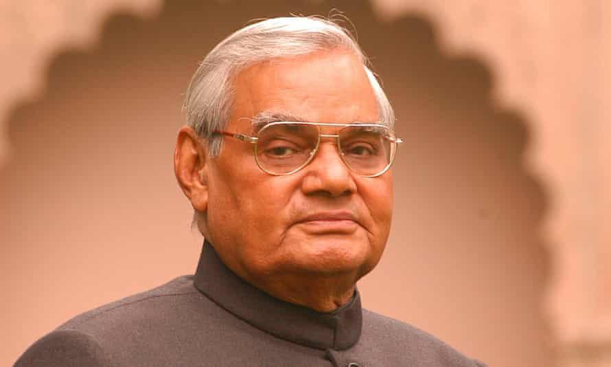 Atal Bihari Vajpayee at the prime minister's residence in New Delhi in 2003.