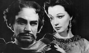 Laurence Olivier as Macbeth with Vivien Leigh as Lady Macbeth.