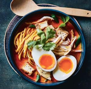 Malaysian chicken curry laksa by Mandy Yin.