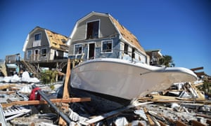 Damaged caused by Hurricane Michael in Mexico Beach, Florida.
