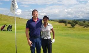 Naga Munchetty and husband golfing in Scotland