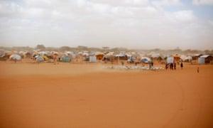 A refugee camp outside Dadaab, eastern Kenya