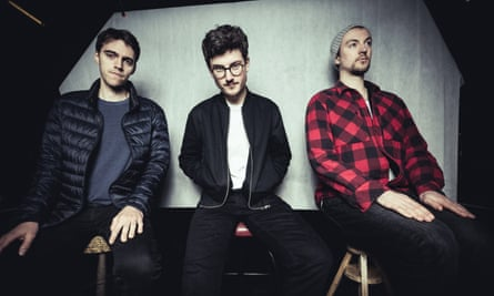 Inviting lyricism and explosive edginess … Elliot Galvin and trio.