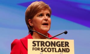 Nicola Sturgeon at the SNP conference on Saturday