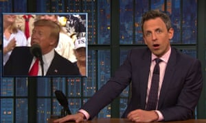 Seth Meyers: 'If anything, we have too much information. Following the latest developments in the Russia investigation is like trying to piece together the plot lines of the last 20 Marvel movies.'