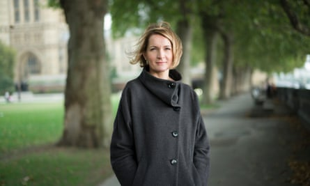 Sophie Walker, Women's Equality party leader outside parliament in London.