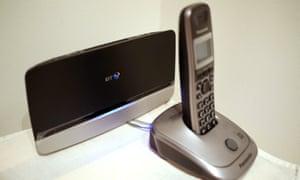 A BT  internet modem and phone.