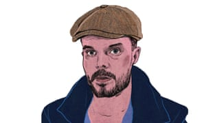 An illustration of a man in a flat cap