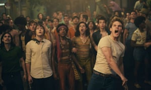 'Indecently chiselled': Jeremy Irvine (foreground) in Roland Emmerich's Stonewall.