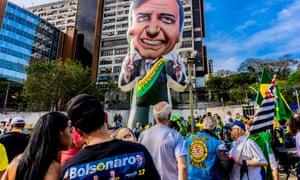 Supporters of Jair Bolsonaro in Sao Paulo earlier this month.